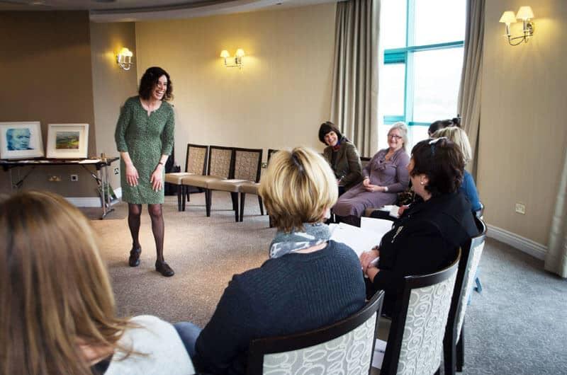 Linda Coyle during communication training session